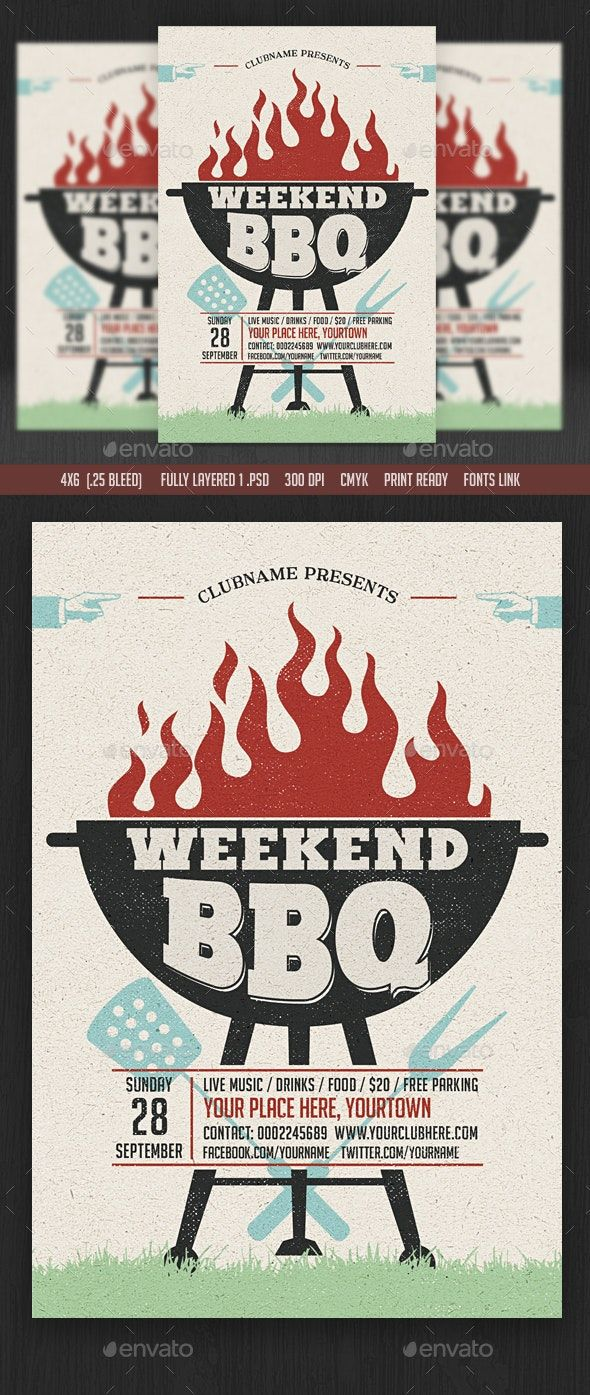 Photo of Weekend / Sunday BBQ Flyer av DesignWorkz14 | GraphicRiver