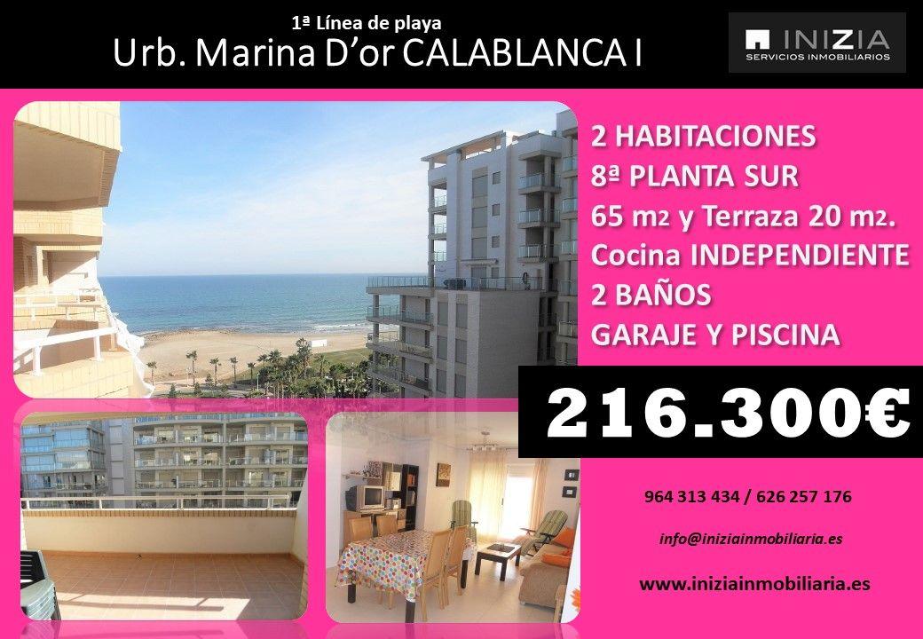 Apartamento A La Venta En Marina D Or Oropesa Del Mar Castellon Orientacion Lateral Sur 1ª Linea De Playa Consta De Dos D Piscinas Terrazas Inmobiliaria
