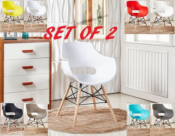 Set Of 2 EAMES DAW Style Olivia Chair design / chaise DAW
