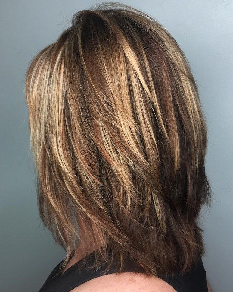 Fringy Layers And Dimensional Highlights Hair Styles Long Hair Styles Medium Layered Haircuts