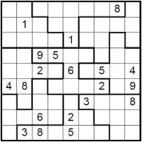 Sudoku De Regiones Irregulares Juegos De Matemáticas Propiedades Matemáticas Coordenadas Cartesianas
