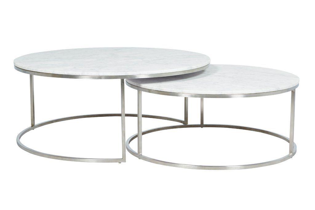 Elle Round Marble Nest Coffee Tables Couchtisch Rund Couchtisch Tisch
