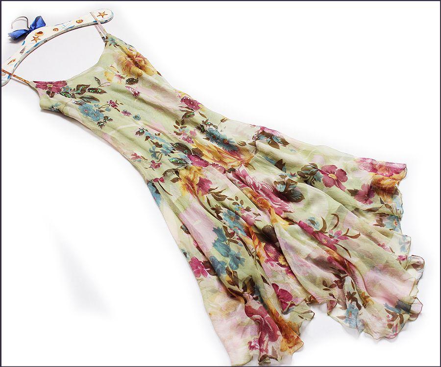 Rene Derhy Jedwabna Delikatna Sukienka 38 40 Agnes 7000043178 Oficjalne Archiwum Allegro Moda Boho Flower Dresses Tie Dye Top