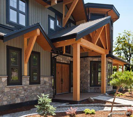 Residential Exterior Entrance: Bucks County DRESSED FIELDSTONE - Cultured Stone® Brand_Manufactured Stone Veneer