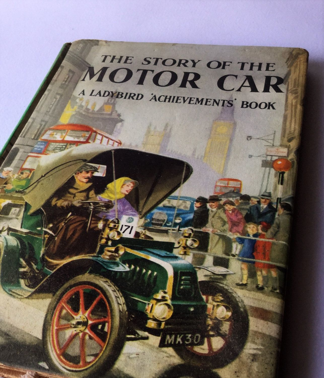 Vintage English book Story of the motor car, car collectibles ...