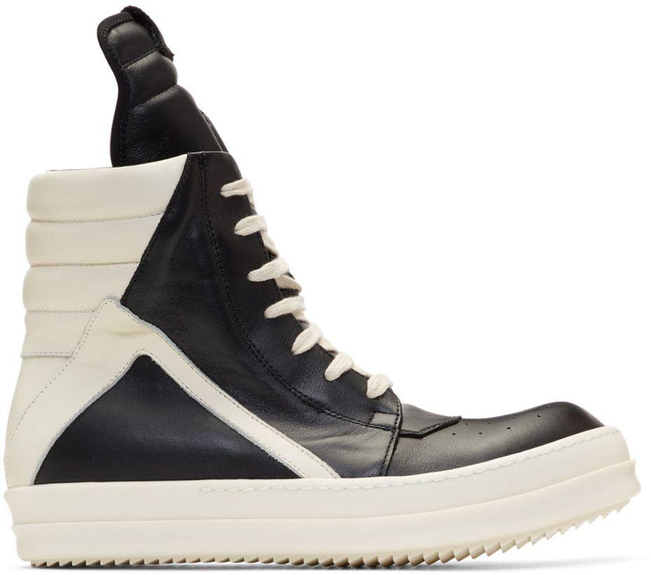 adidas Originals Black & Off-White Geobasket High Sneakers 1jS2vErr9Y