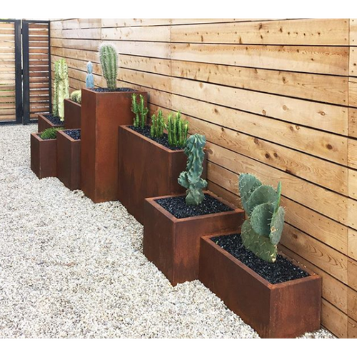 This Product Features From Right To Left Corten Steel Window Box Planter Corten Steel Cube Planter Corten Steel Span P Planters Plants Corten Steel Planters