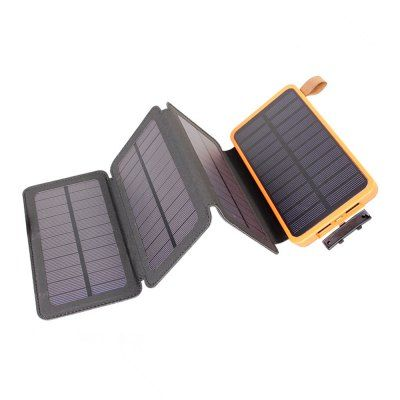 Solar Charger Solar Power Bank With Foldable Solar Panel Portable Rugged Solar Battery Charger Orange Power Banks Sale Price Reviews Solar Battery Charger Solar Power Solar Charger