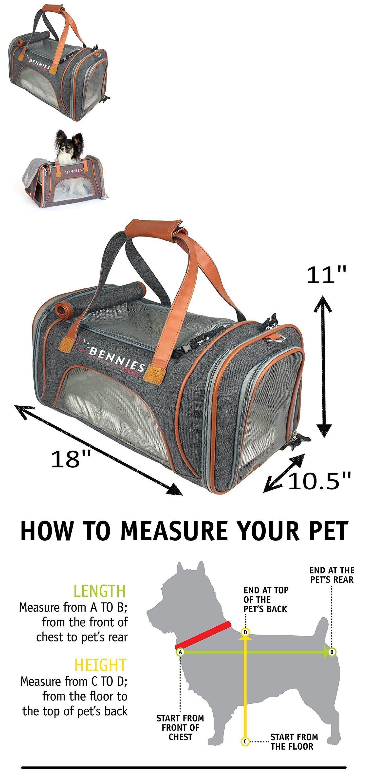b21962d8917 Carriers and Crates 26702: Pet Travel Bag Carrier For Dogs And Cats -  Airline Approved, Fits Under The Seat -> BUY IT NOW ONLY: $58.99 on #eBay # carriers ...