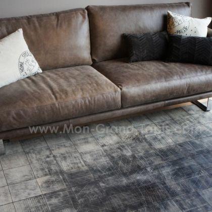 tapis en peau de vache gris home spirit walker 200 x 300 With tapis peau de vache avec petit canapé d angle convertible 200 cm