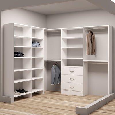 Tidysquares Inc Demure Design 93 W 84 25 W Closet System