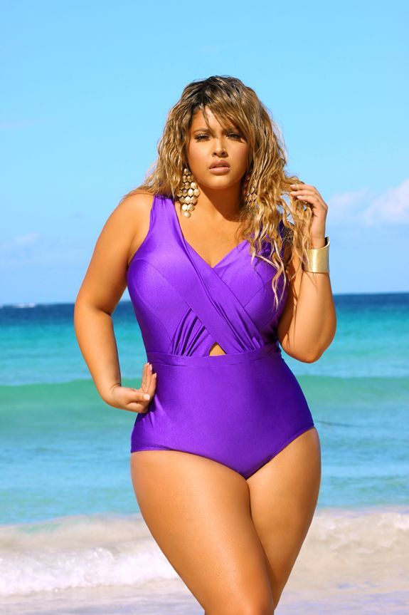 Plus Size Swimwear Models In Addition To Serving Up Her