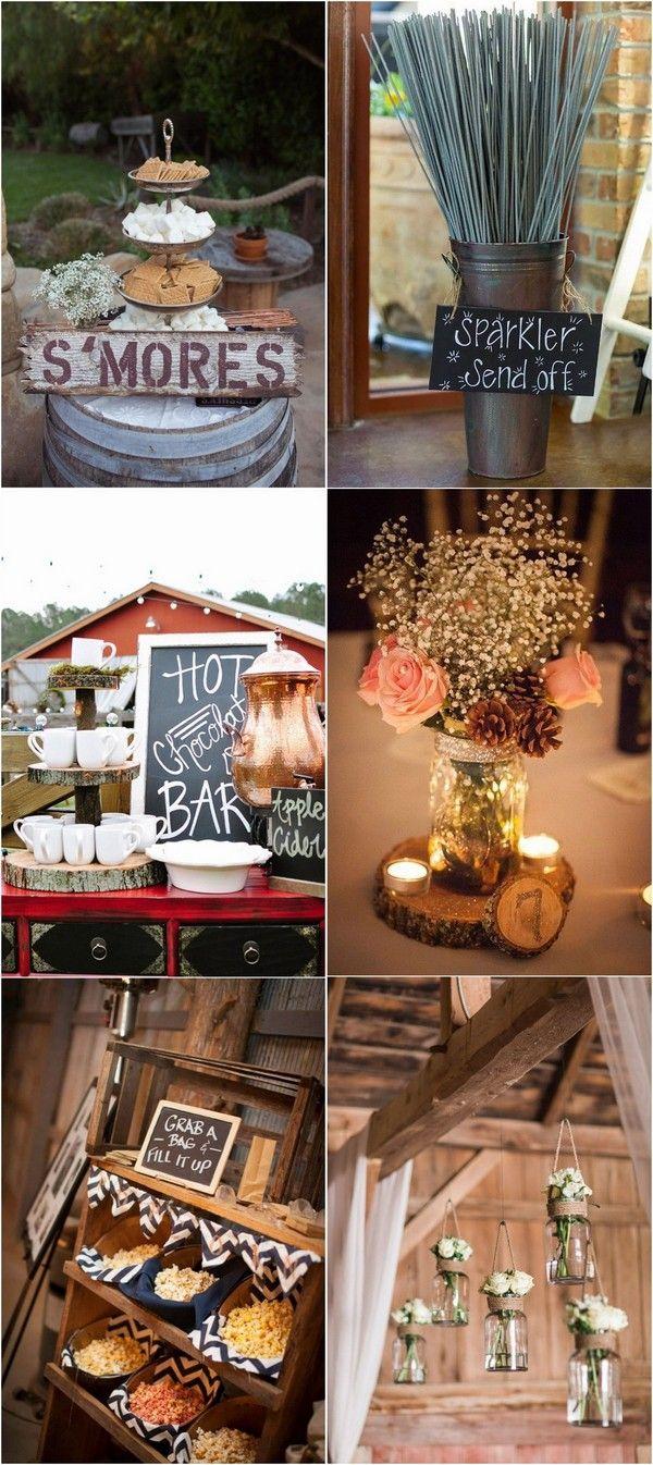 Simple wedding decoration designs   Gorgeous Ideas for a Rustic Barn Wedding  Wed  ideas