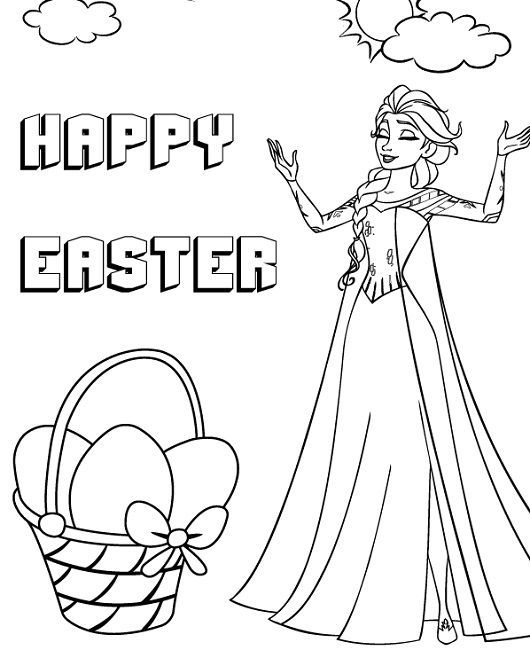 Frozen Coloring Pages Easter