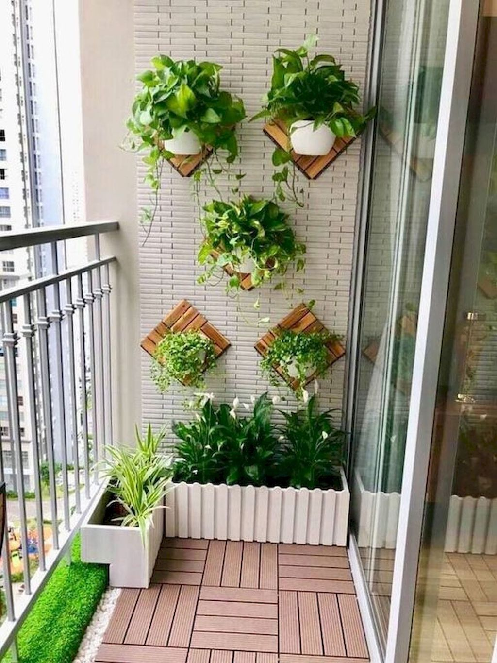 12 Small Apartment Balcony Garden Design Ideas  Small balcony