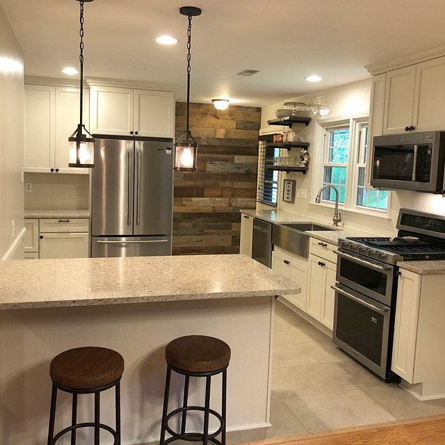 Ultra Thin Original Face Grey Brown Barn Wood Siding Kitchen Decor Kitchen Beautiful Kitchens