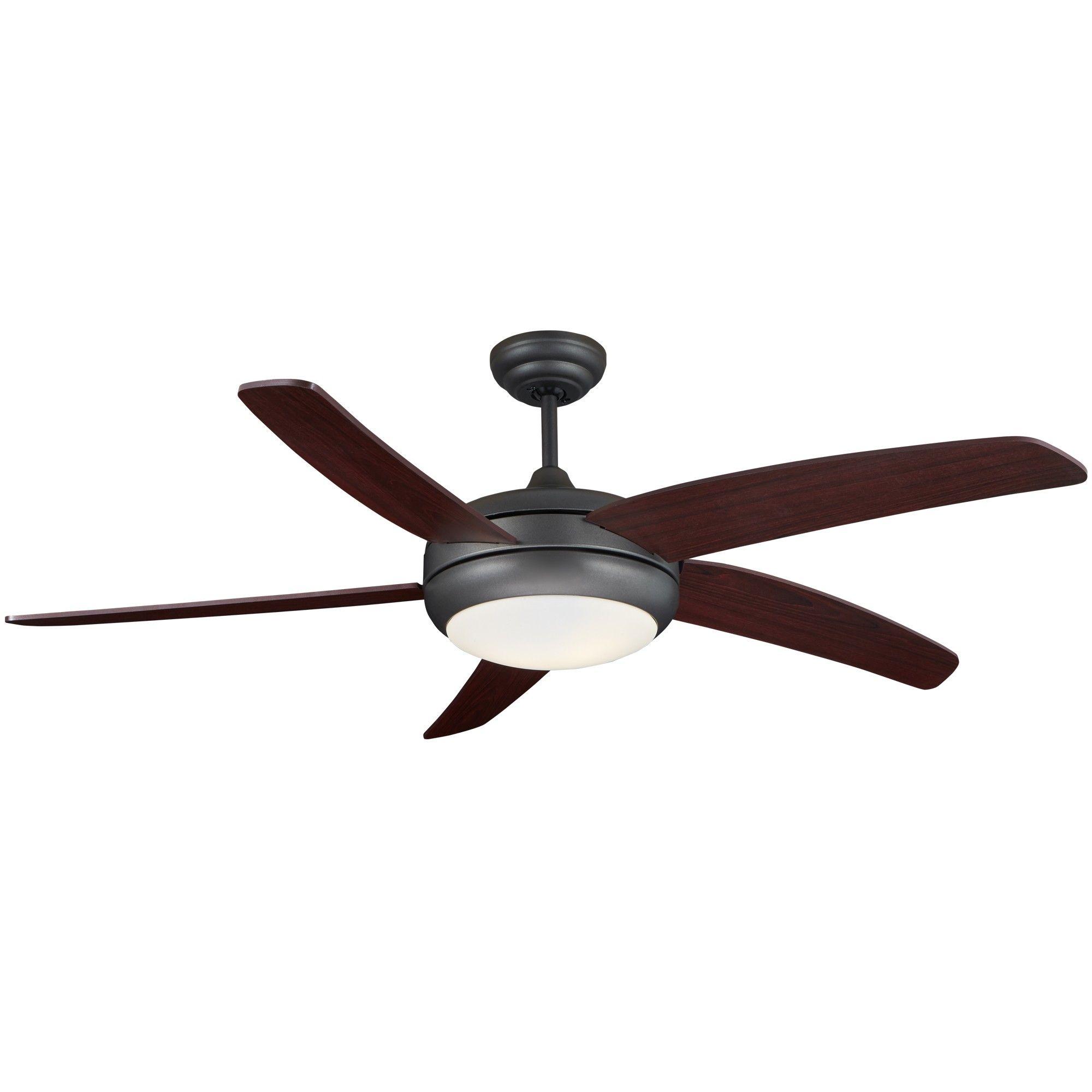"Frisco 52"" AC motor Ceiling Fan with Light Matte Black"