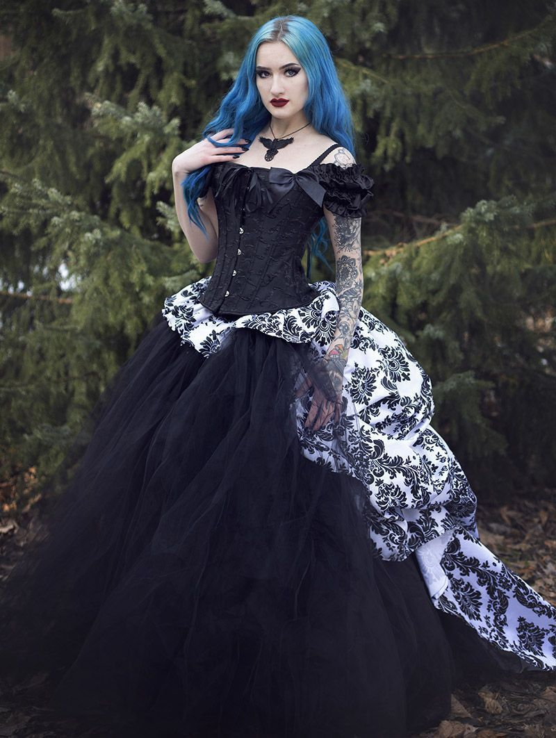 Romantic Gothic Corset Victorian Style Long Prom Gown Devilnight Co Uk Victorian Fashion Gothic Dress Dresses [ 1062 x 800 Pixel ]