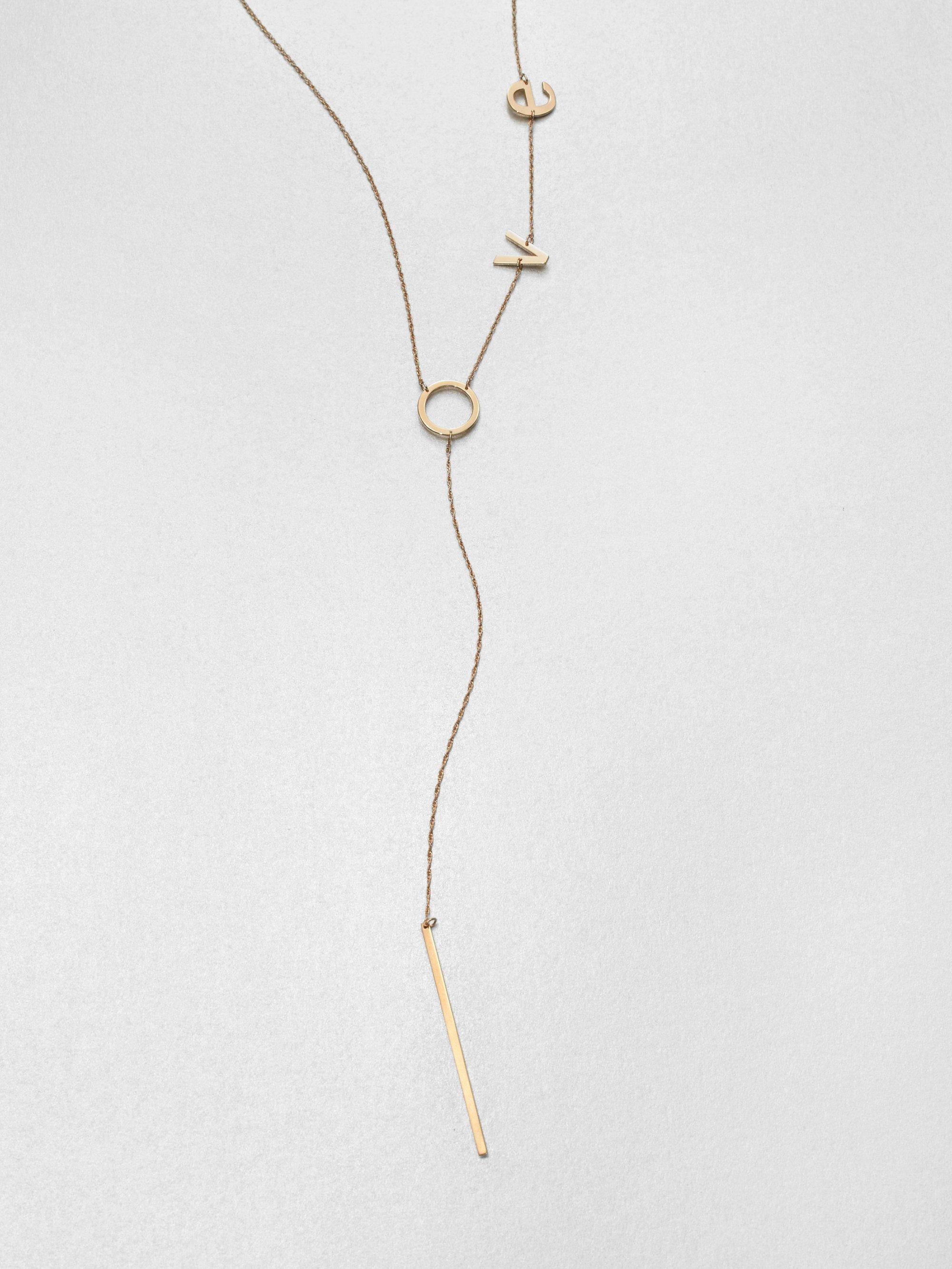 Jennifer Zeuner Love Y Necklace
