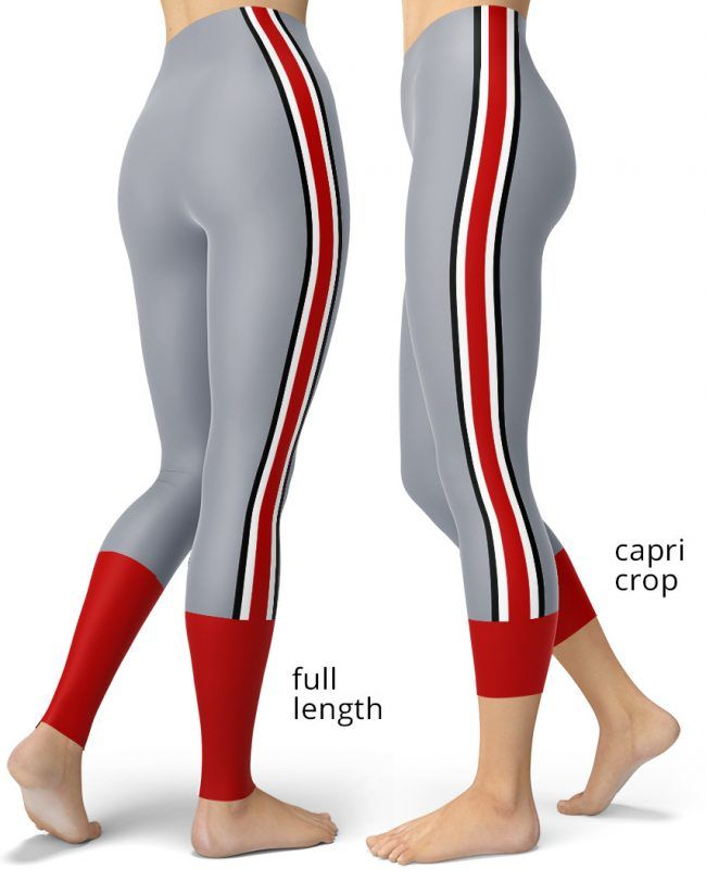 Ohio State Buckeyes Game Day Football Leggings - Designed By Squeaky Chimp Tshirts & Leggings