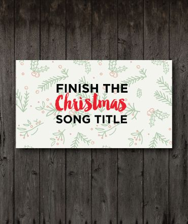 Finish The Christmas Song Title Game Youth ministry Pinterest
