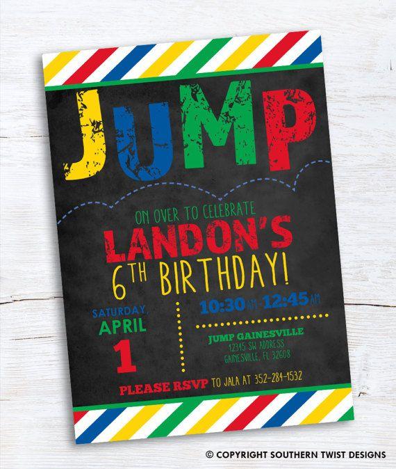 Jump Party Invitation Bounce House Birthday