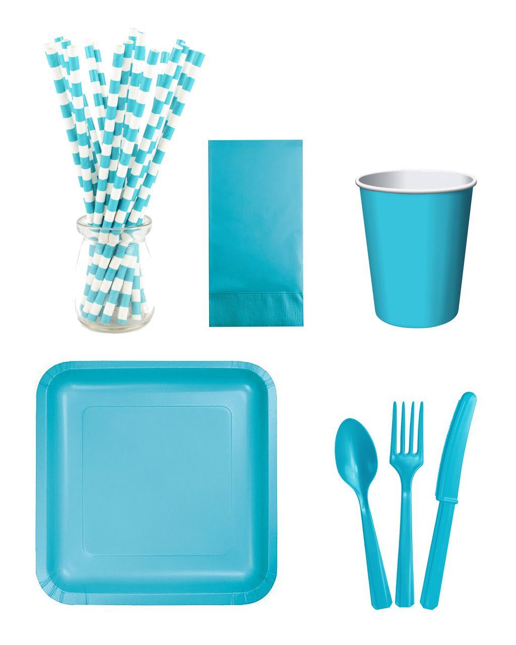 TURQUOISE DIG-IN-DON'T-WAIT-KIT 'Get-Kit-Done' Instant Party Serving Kit - Light & Co