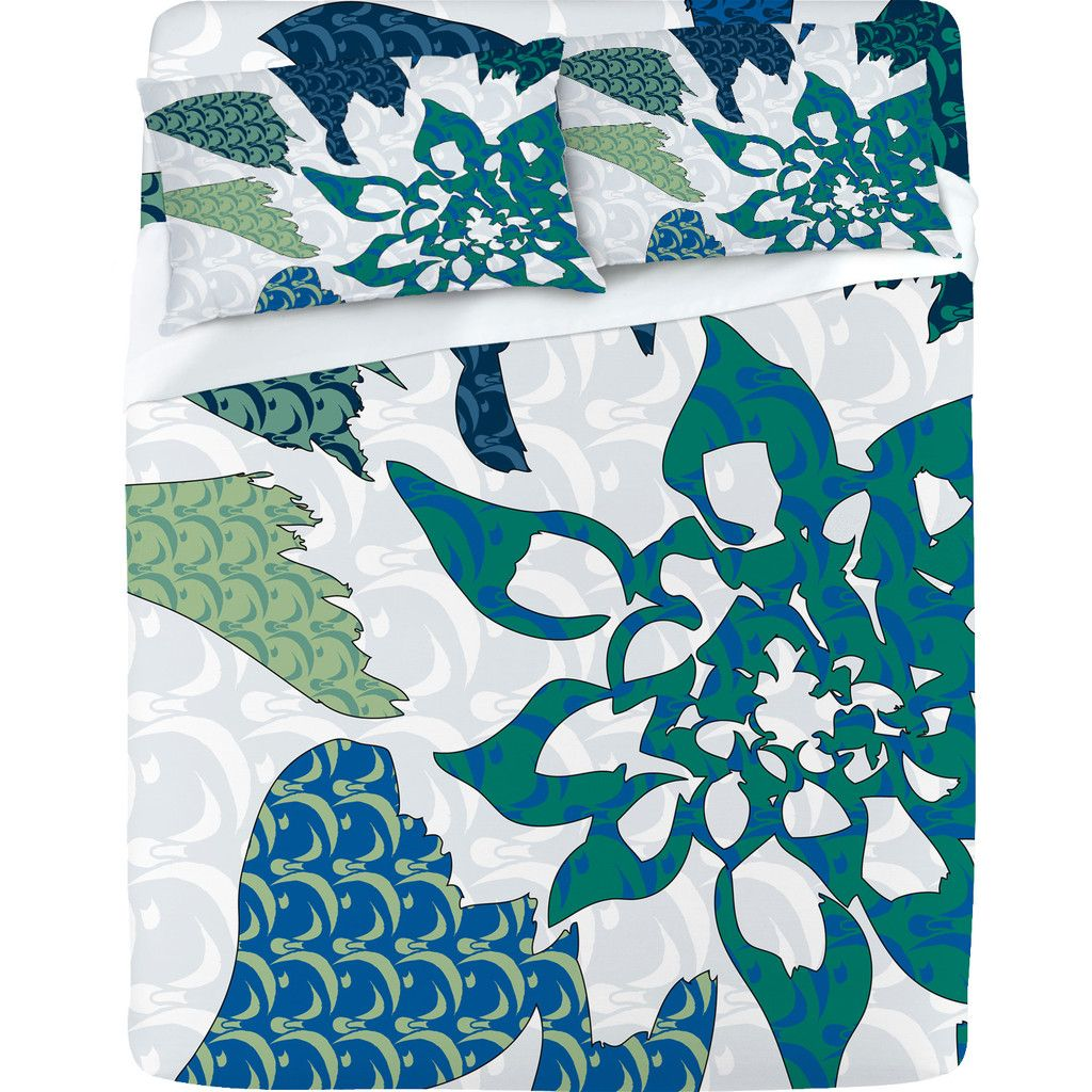 Karen Harris Constance In Blue Blossom Sheet Set | DENY Designs Home Accessories