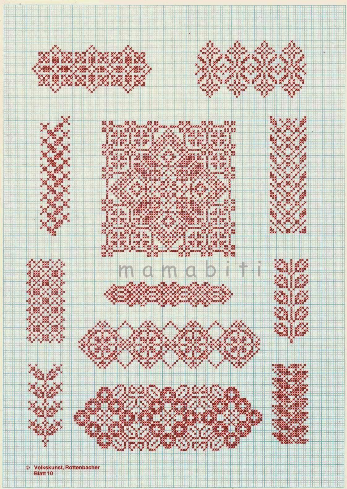 Вышивка-примеры и схемы