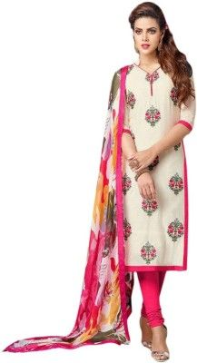 587eda146e jay bhavani fashion Cotton Embroidered Dress/Top Material Price in India -  Buy jay bhavani