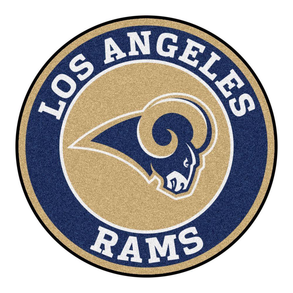 Nfl Los Angeles Rams Navy Blue 2 Ft 3 In X 2 Ft 3 In Round Accent Rug Nfl Los Angeles Los Angeles Rams Nfl Teams Logos