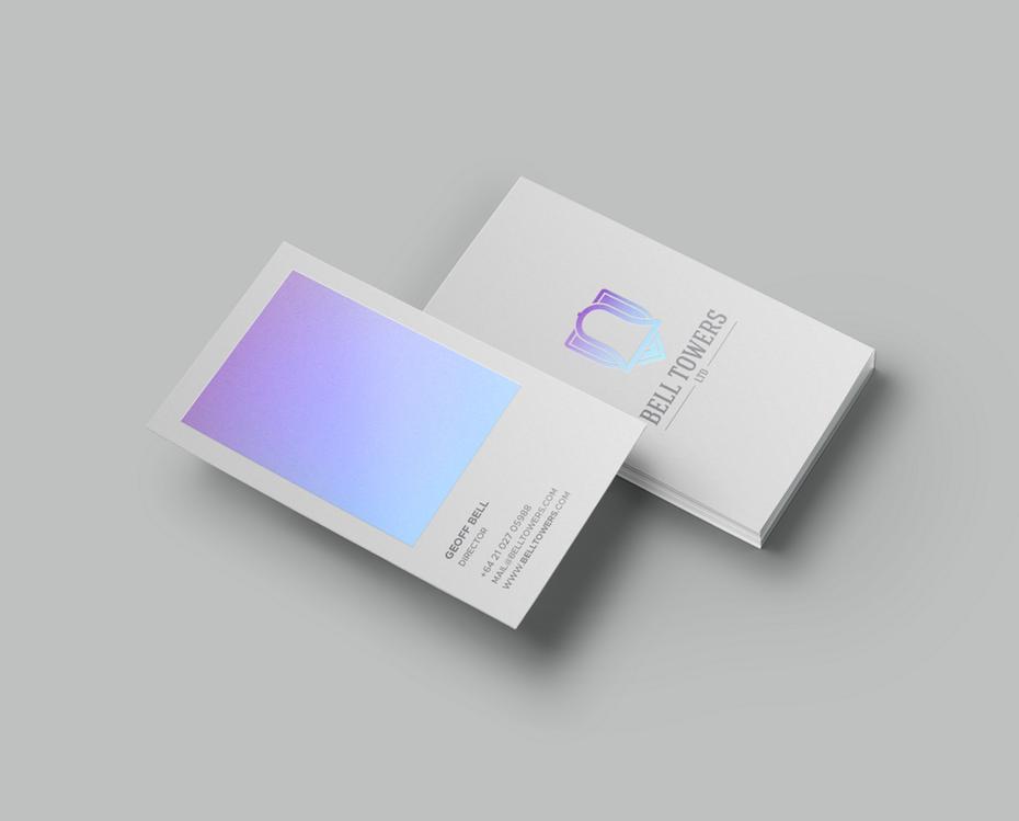 Pastel Gradient Business Card Graphic Design Business Card Business Cards Creative Business Card Inspiration