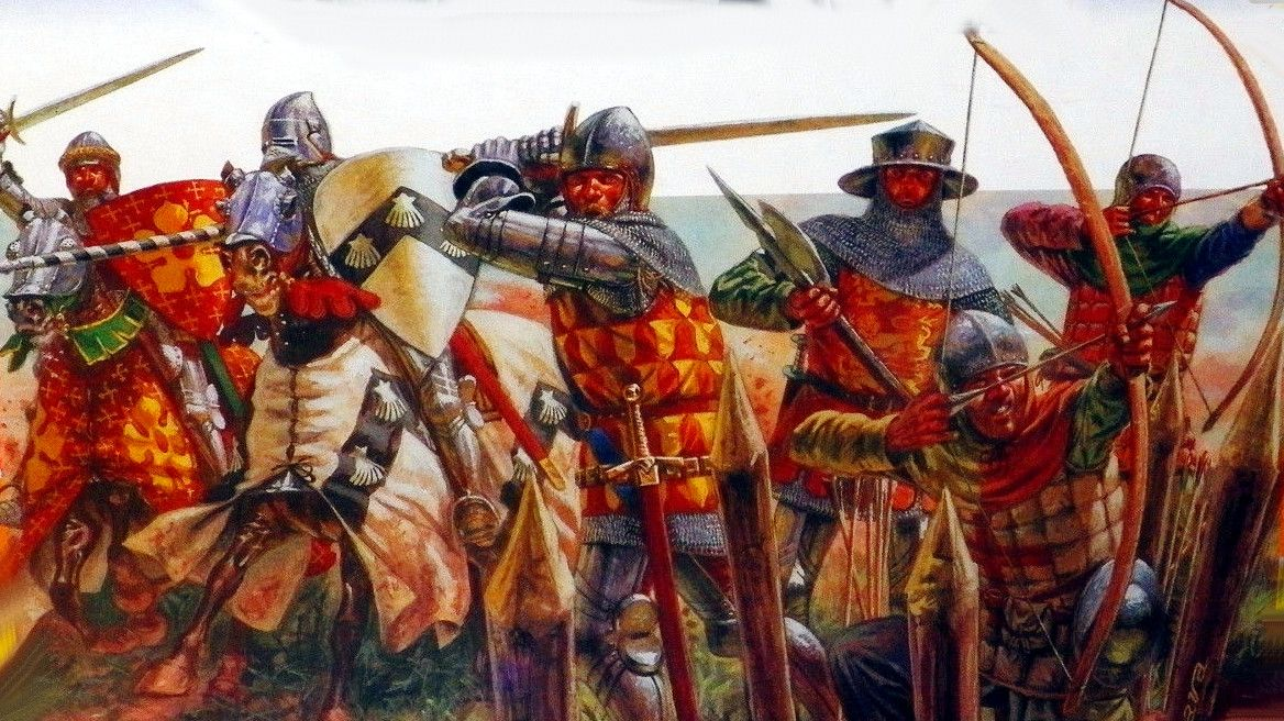 english knights and archers hundred years war hundred