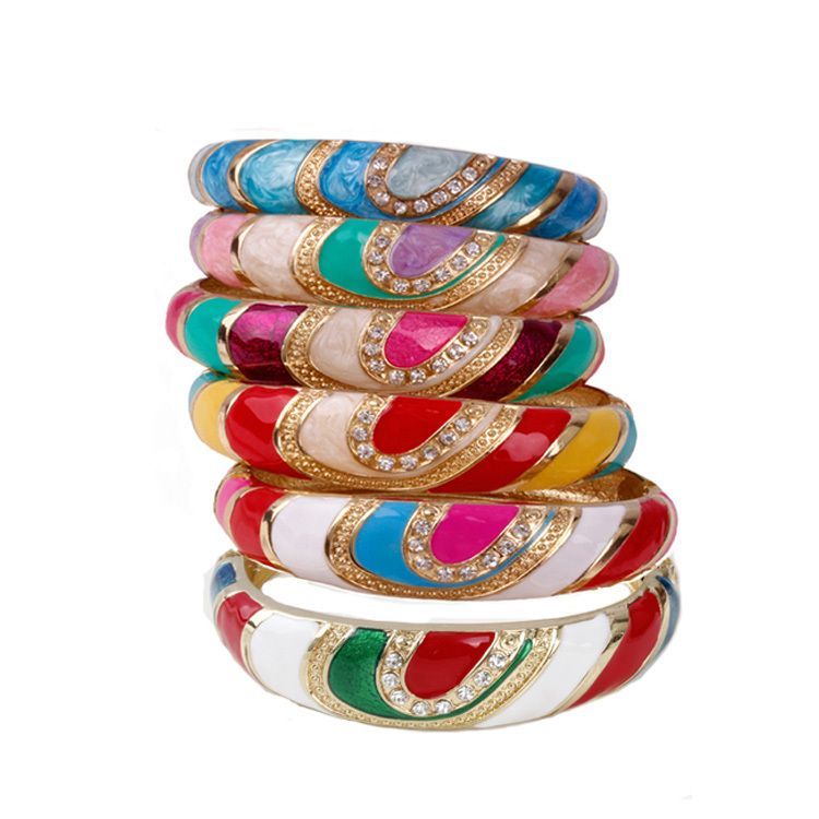 Find More Bangles Information about TOOHOW 18k gold Bohemia Bangles 2014 hot sale oil drip bracelet bangles Holiday gifts Exquisite Evening wear bracelet promotion,High Quality box lanyard,China bangle style Suppliers, Cheap box soft from TOOHOW on Aliexpress.com