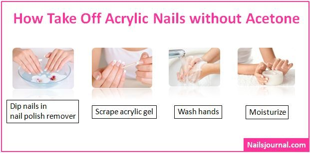 How To Take Off Acrylic Nails Without Acetone Nails Journal Take Off Acrylic Nails Acrylic Nails At Home Remove Acrylic Nails