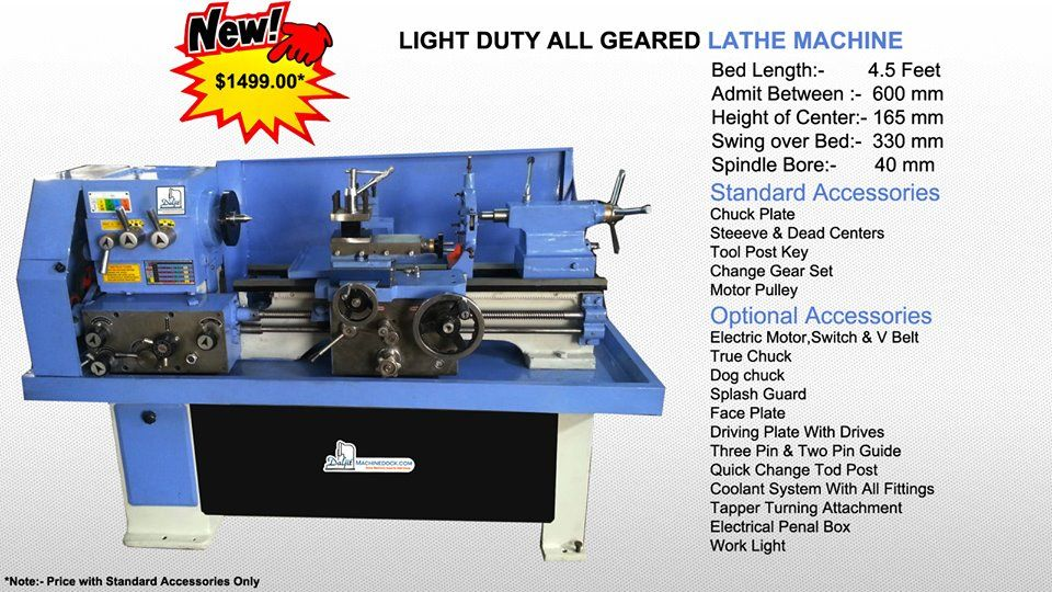 Heavy duty geared lathe machine holds metal or other kinds of hard material for deforming, turning & cutting. As a widely used machine tool in kinds of industrial applications, it performs operations like cutting and that too with precision.  http://www.machinedock.net/lathe-machines