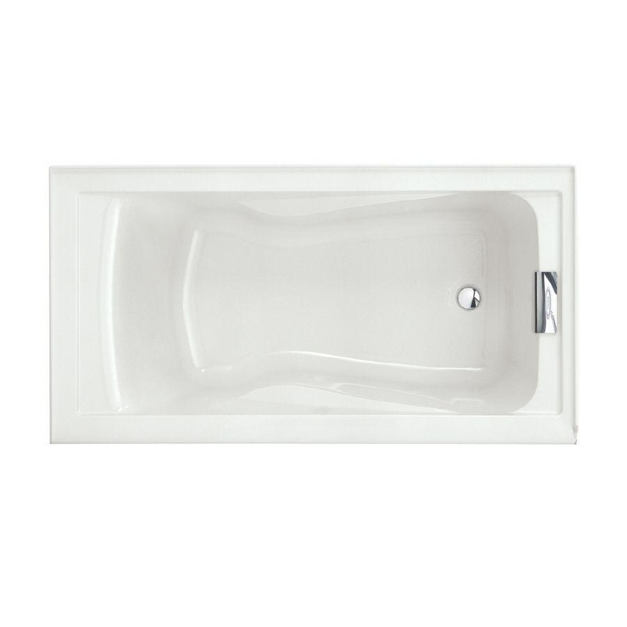 American Standard Evolution Acrylic Rectangular Drop-In Bathtub With ...