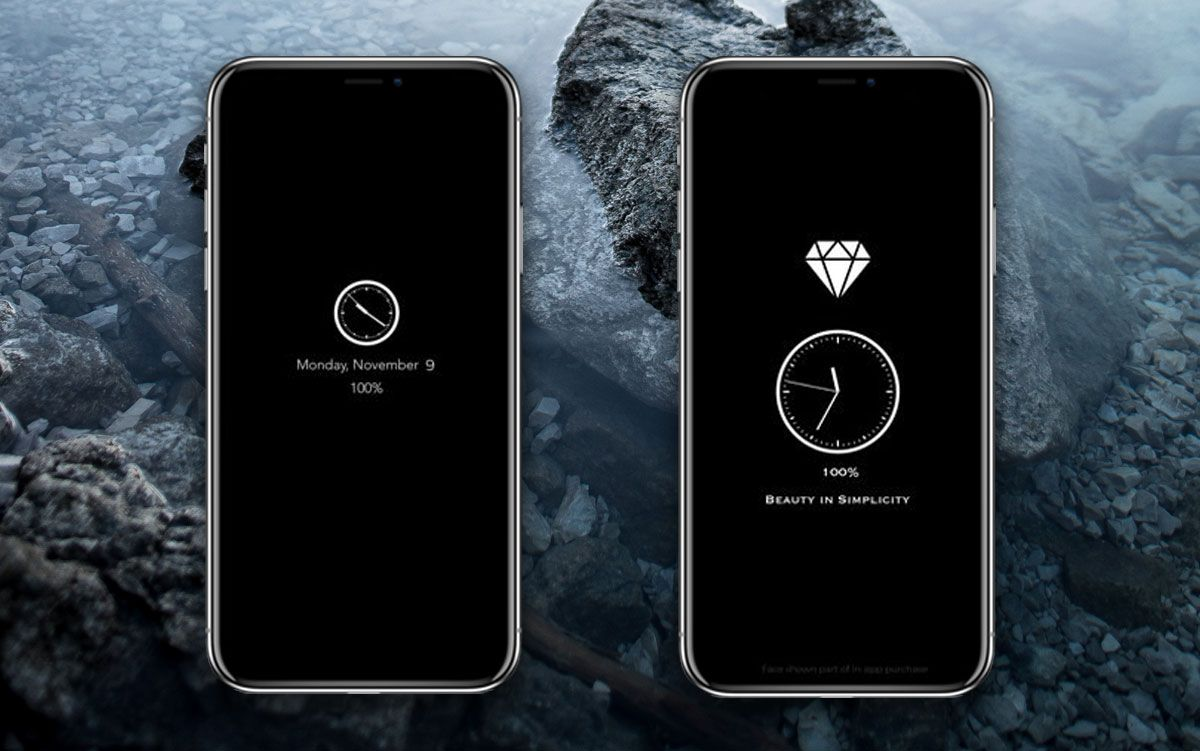 How to display date and time on lock screen iPhone X