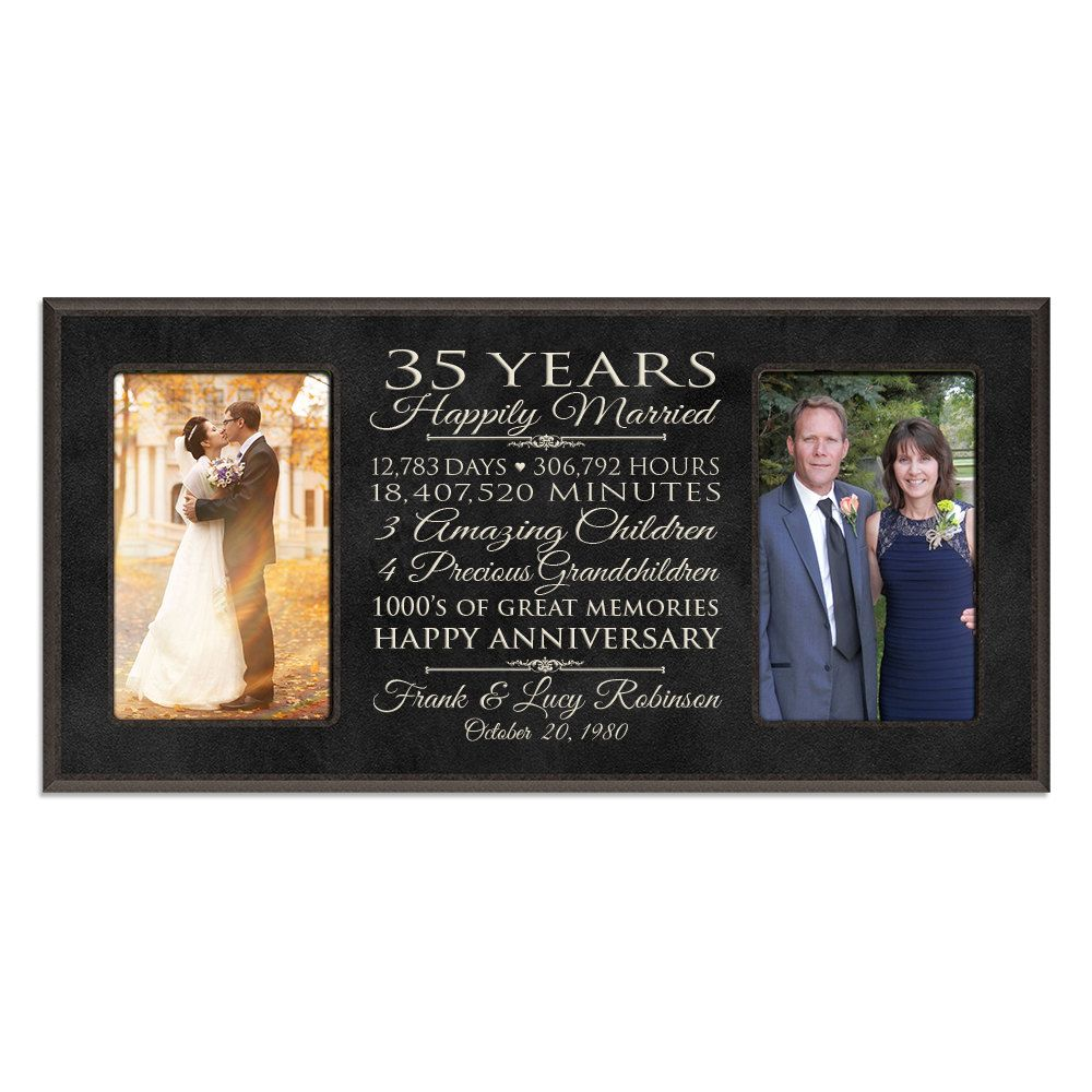 35 Year Wedding Anniversary Gifts: Personalized 35th Anniversary Gift For Him,35 Year Wedding