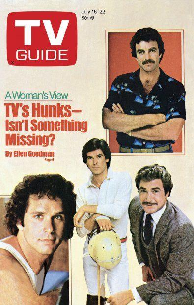 "TV Guide, July 16, 1983 ""TV's Hunks"" features Remington Steele's Pierce Brosnan"