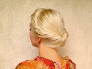 Wedding hairstyles for medium long hair tutorial Prom updo Gibson tuck…