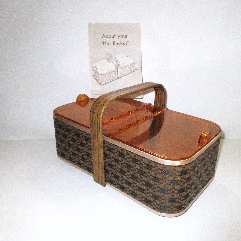 Vintage Metal Breadbox Salton Hotbasket Electric Bread Warmer Biscuit Box By Whimzythyme On Etsy Midcenturymod