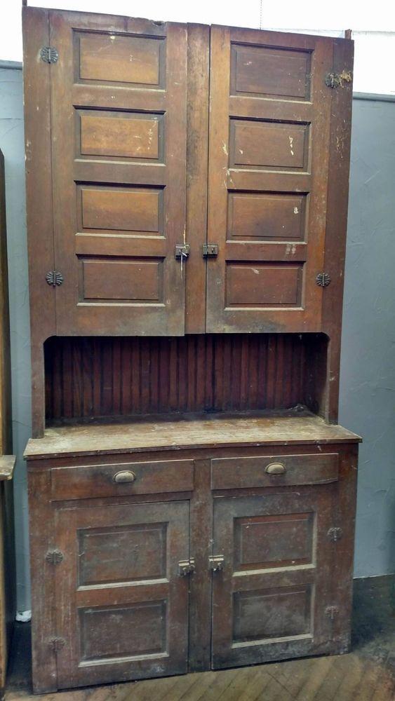 Best Details About Farmhouse Antique Primitive Early Large Old 640 x 480
