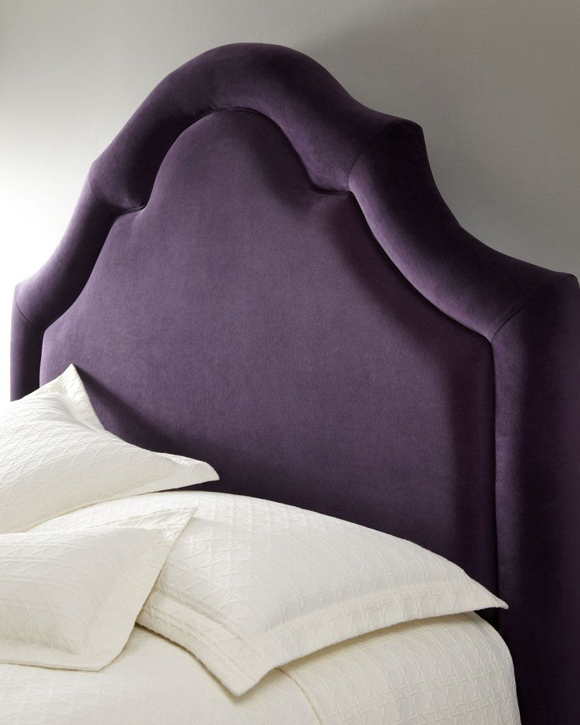 Add a touch of romance to your bedroom with the handcrafted Neiman Marcus Velvet Headboard ($999 to $1,329).