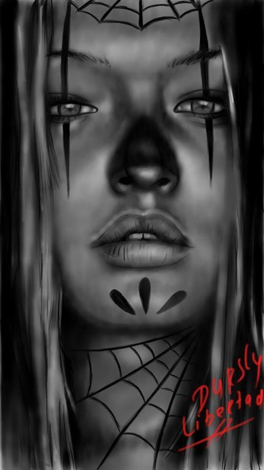 girl digital drawing libertad tattoo en piercing lounge