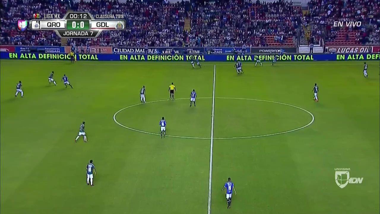 goals Liga MX Queretaro vs. Chivas Guadalajara 14/02