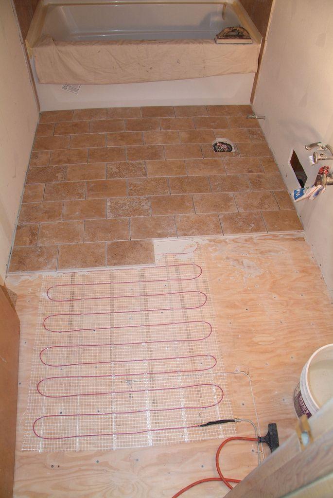 Heated Travertine Floor Idea Flooring House Home