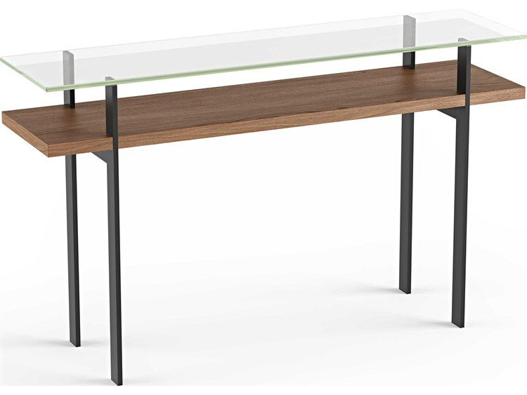 Bdi Terrace Natural Walnut 50 W X 13 D Rectangular Console Table