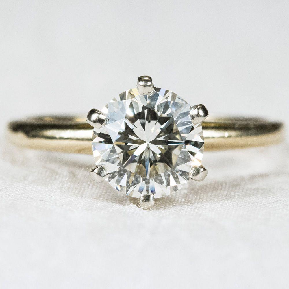 Superior 1.05ctw Solitaire Diamond Engagement Ring