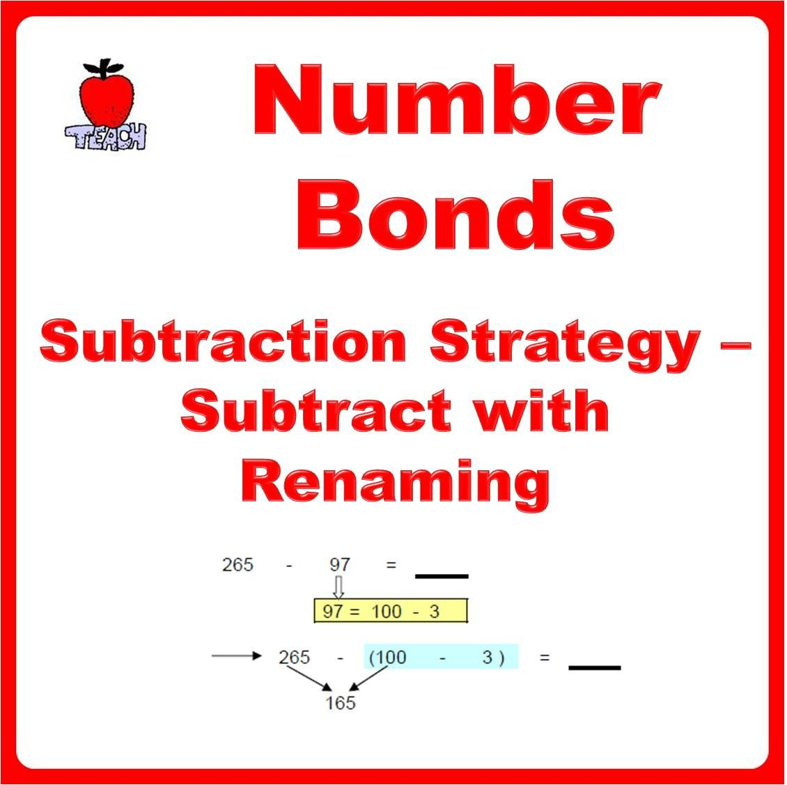 Number Bonds Subtraction Regrouping Strategy